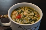 Spinach Chicken OrzoSoup