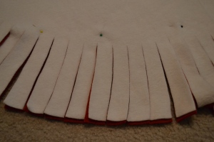 Fleece Tree Skirt Strips