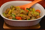 Easy Chicken Sausage and Sauteed Veggies